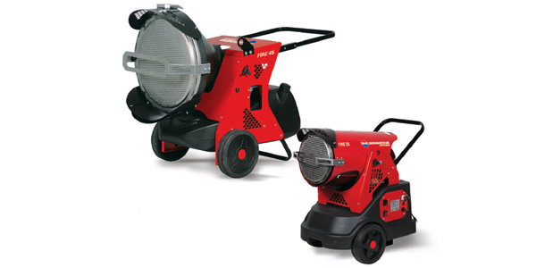 Generatori mobili a raggi infrarossi FIRE