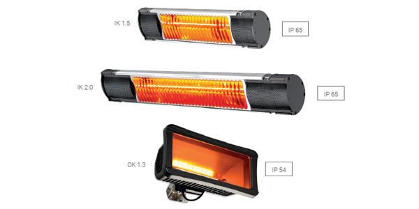 Riscaldatori a raggi infrarossi