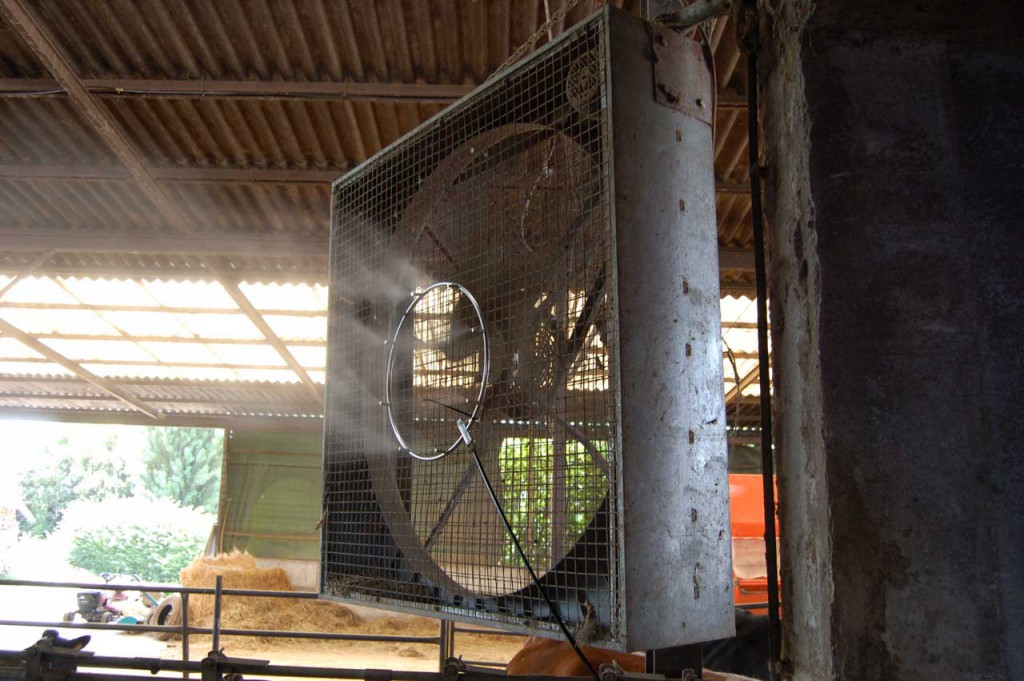 Impianti di nebulizzazione per raffrescamento allevamenti