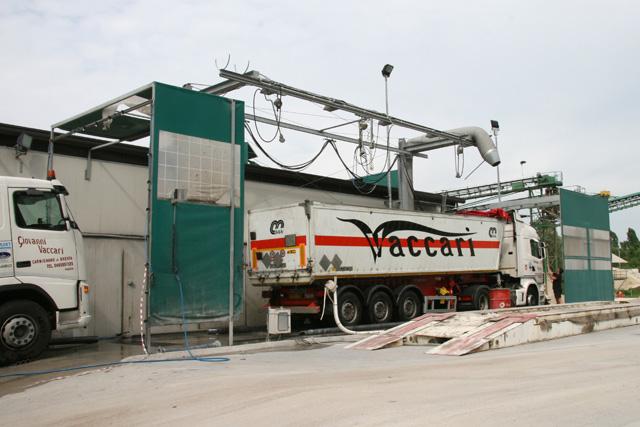 impianto di lavaggio camion ad alta pressione